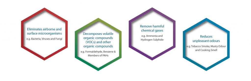 Features Biozone photoplasma air purifier